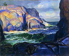 Squeaker Cove, George Wesley Bellows. American Ashcan School Painter (1882 - 1925)