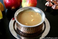{Pasi Paruppu Payasam (Moong dal Kheer)} South Indian sweet pudding made using Mung lentils, Jaggery and Milk with a hint of aromatic spice and nuts . Vegetarian Christmas Recipes, Vegetarian Meals For Kids, Vegetarian Recipes Easy, Vegan Dinner Recipes, Milk Recipes, Indian Desserts, Indian Food Recipes, Indian Sweets, Ethnic Recipes