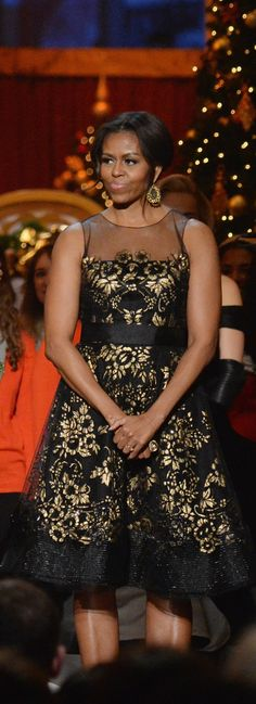 Michelle Obama's First Lady Style Is Right on Point For the Holiday Season