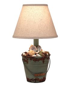 Love this Mini Shell Bucket Table Lamp on #zulily! #zulilyfinds