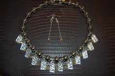 Milagros Necklace with chain main and crystals by Menono Designs