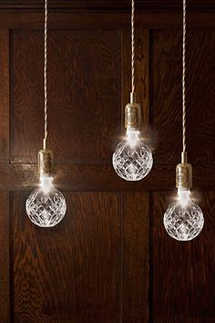 Crystal Bulb and Pendant Light @Ellen Leach do you think zack would let us switch out the bulbs!?