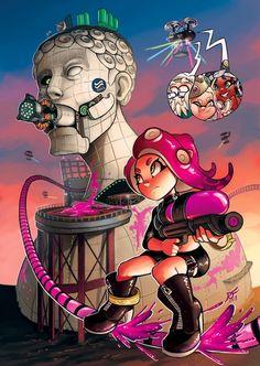Octo expansion: Pearl: Let's go agent You got thiiiis! Marina: Calm down Pearl. Splatoon Games, Nintendo Splatoon, Splatoon 2 Art, Splatoon Comics, Pokemon, Otaku, Nintendo Characters, Minions, Fanart