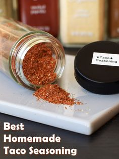 The BEST Homemade Taco Seasoning Recipe - all natural, easy, versatile and easy to modify to taste!