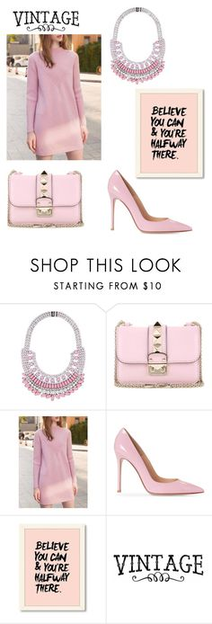 """""""pink💘"""" by eva-jovani ❤ liked on Polyvore featuring Tom Binns and Valentino"""