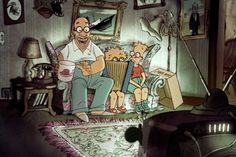 Simpsons' New Couch Gag Directed by Triplets of Belleville's Sylvain Chomet - Video - Creativity Online