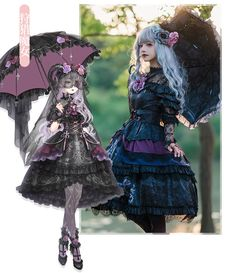 Nikki Tomorrow -The Wild Witch- Gothic Lolita JSK, Corset and Blouse Punk Rock Outfits, Emo Outfits, Anime Outfits, Cute Outfits, Grunge Outfits, Gothic Lolita Dress, Gothic Lolita Fashion, Punk Fashion, Street Fashion