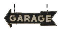 #Garage  96x27x11 presented as lot S29. #Mecum #WalkerSignCollection #Neon #Porcelain