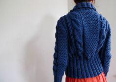 Free shipping worldwide Handmade blue cardigan by TASSSHA on Etsy
