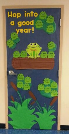 Frog classroom door                                                                                                                                                      More