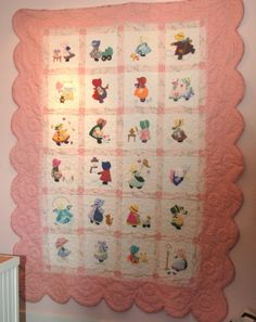 SUNBONNET SUE twin sized quilt. Aww, I miss helping my grandmother with her designs.