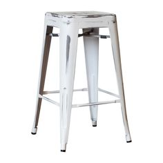 Replica Tolix Counter Stool - Antique White – Simply Bar Stools