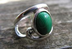 Sterling Silver Cabachon Ring With Natural by westernmountain, $21.00