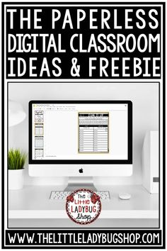 Teaching students how to use google slides in the paperless classroom with digital resources. Perfect for google slides, digital learning. #googleclassroom #digitalclassroom