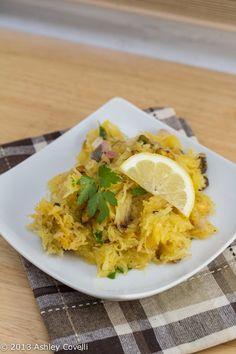 Pistachio Lemon Spaghetti Squash #RealFoodChallenge
