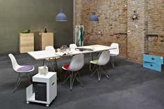 vitra - DSR, Sunburst Clock || muuto - Unfold || HAY - Loop Stand Hall || L&Z - Sinus || Parkhaus - Chair Cushion