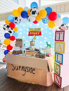 Fête Toy Story, Toy Story Baby, Toy Story Food, Toy Story Crafts, Toy Story Theme, 2nd Birthday Party For Boys, Baby Boy 1st Birthday Party, Toy Story Birthday Cake, Birthday Themes For Boys