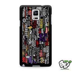 American Metal Collage Design Samsung Galaxy Note 4 Case