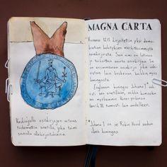 From sketchbook of Petri Fills #sketchbook #drawing #MagnaCarta #historia