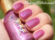 **Sally Hansen [NailPrisms] - Pink Rose Diamond / MakeupWithdrawal [Discontinued]