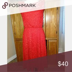 Lauren Conrad red dress Lace dress only worn once, in great condition Dresses High Low