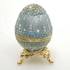 Waters of Life Faberge Egg Made of Swarovski Crystals, PewterNow Only: $62.70 With Free Shipping