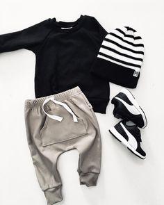 "585 Likes, 38 Comments - MY MILA - Tennille Nunez (@mymila.ca) on Instagram: ""Weekend ready ✔️ pocket harems ✔️ pullover ✔️ toque #monochromebaby #minimalfashion…"""
