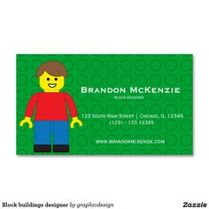 #zazzle Sold this  #building #blocks #businesscards to Japan. Thanks for you who purchased this. Check more at www.zazzle.com/graphicdesign/block