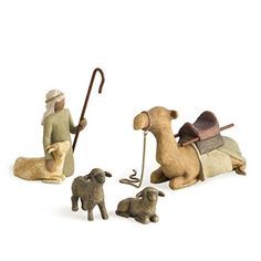 Willow Tree Shepherd and Stable Animals Set Nativity Susan Lordi Demdaco Mint Willow Tree Nativity Set, Christmas Nativity Scene, Nativity Scenes, Christmas Time, Christmas Decor, Christmas Ideas, Christmas Ornaments, Willow Tree Figuren, Willow Figurines