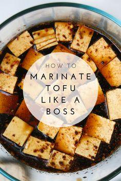 Tofu mariné grillé