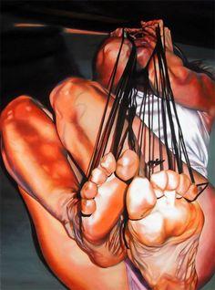 Zingarelli Laura INVIOLATA acrilico su tela 120x60cm
