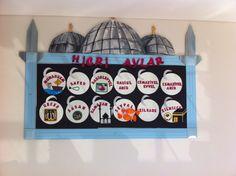 Osmangazi Koleji Karakter Eğitimi Panosu ( Hicri Aylar) Islam For Kids, Diy And Crafts, Calendar, Holiday Decor, Islamic, Basteln, Life Planner