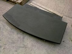 Curved edge, 2 piece T shape Custom Made Slate Hearths for Woodburning stoves, multi fuel, log, coal, bio-ethanol, gas, electric fires, and fireplaces direct from the manufacturer