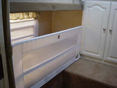 Baby rails to convert bunks or overheads to storage
