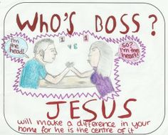Who's the boss in my house? Drawn by a child as part of BrixKidz Picture Preachers Competition. visit www.brixkidz.org to see more pictures and vote for your favourite each week