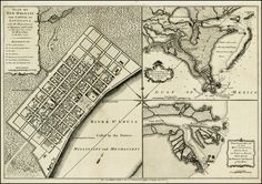 Antique map of New Orleans from 1720.