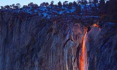 horsetail firefall waterfall yosemite