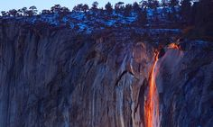 horsetail firefall waterfall yosemite