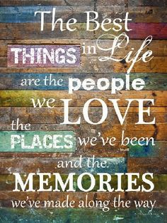 The Best Things In Life Blocking Print Decor Framed Art Picture We The People, Art Pictures, Framed Art, Life Is Good, Wisdom, Good Things, Memories, My Love, Words