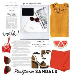 """""""Untitled #263"""" by midnightcigarette ❤ liked on Polyvore featuring H&M, Vanessa Bruno, Pierre Hardy, Dolce&Gabbana, Anja and Agent Provocateur"""