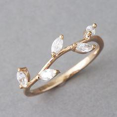 Rose Gold Olive Branch Leaf Ring from Kellinsilver.com