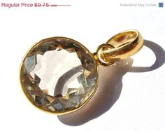 10% OFF SALE Gold Plated AAA Natural Lemon by RareGemsNJewels