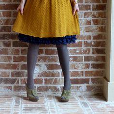 Bright Navy Three Tiered Chiffon Ruffle Extender Slip | Skirt Extender Slips | A Slip Shop