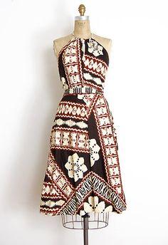 1970s Hawaiian halter dress.  Just like aunty used to wear.