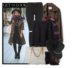 """Get The Look"" by monmondefou ❤ liked on Polyvore featuring moda, Zara, Accessorize, Topshop, Yves Saint Laurent, Louis Vuitton, BeckSöndergaard, Stuart Weitzman, GetTheLook ve Fall"