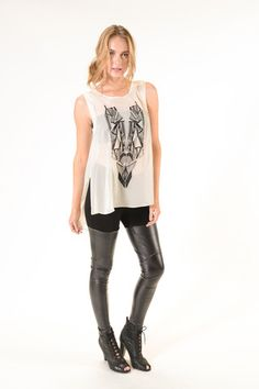 #YFB Leo Top with Art Deco inspired embroidery -Kendal Boutique in Nashville, TN