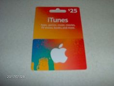 #Coupons #GiftCards A $25 ITunes Gift Card, NEW!!! #Coupons #GiftCards