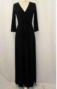 Black faux wrap maxi dress  Order at Shannasthreads.com
