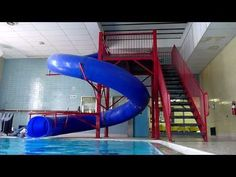 Going down the big blue slide at the YMCA. History: Turned in January joined the YMCA the last week that month. Swimming Pool Slides, Swimming Classes, Swimming Pools, Cool Slides, Swim Lessons, Slide Design, Small Spaces, In This Moment, Home