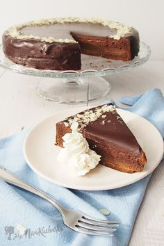 Sacherova torta Polish Recipes, Russian Recipes, Gluten Free Recipes, Tiramisu, Brunch, Pudding, Sweets, Cheesecake, Baking